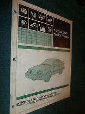 1984 1985 MERKUR XR4Ti SERVICE FEATURES MANUAL / ORIGINAL TRAINING BOOK