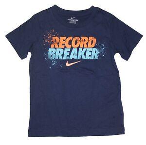 Nike Boys T-Shirt - Cotton & Dri-Fit Shirt - Size 4 5 6 7  - Nike Tee New w/Tags