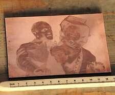 DAS PAAR Galvano Druckstock Kupferklischee Druckplatte Drucker Bleisatz Druck