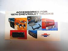 1974 Chevrolet Truck Accessories Brochure Booklet Pickup Blazer Suburban