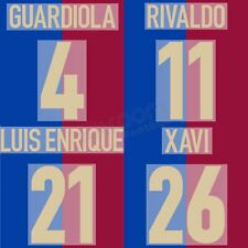 1998-00 Barcelona Centenary Name Set RIVALDO GUARDIOLA PUYOL XAVI for Shirt J...