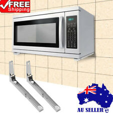 2x Stainless Steel Microwave Oven Bracket Foldable Stretch Wall Mount Rack Shelf