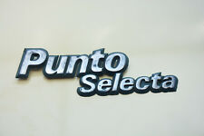 USED FIAT SELECTA ORIGINAL EMBLEM NAMEPLATE REAR LOGO PLASTIC BADGE