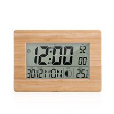Atomic Clock LCD Digital Calendar Alarm Day Clock Dual Alarm Color with G7G2