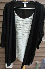 Women's Black & Ivory Shirt by Only 9;  Size:  3X