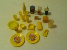 Vintage Barbie 20 Yellow Kitchen Accessories