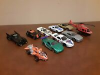 Hot Wheels Car Lot of 10 Vintage Mattel Matchbox Racecar Batmobile Batman