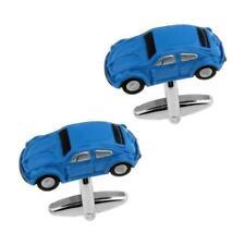 VW BEETLE CUFFLINKS Blue Volkswagon Bug 3D Classic Car w GIFT BAG Wedding Groom