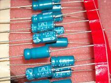 50 PCS 47uF 16v 85c 20% 5 X 12 AXIAL ELECTROLYTIC CAPACITORS