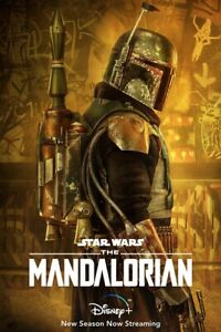 "New Art Print The Mandalorian ( 11"" X 17"") Boba Fett Poster DISNEY STAR WARS"