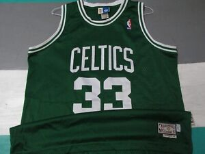 Larry Bird Boston Celtics Adidas Swingman Jersey Men's Large Green Hardwood SEWN