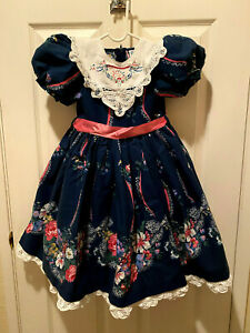 Daisy Kingdom Vintage Girls Party Dress For all Seasons with factory labels.SZ 5