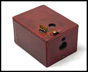 1895 Pocket Kodak miniature box camera in dark red leather