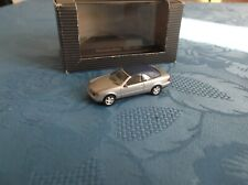 HERPA 1/87 HO SCALE MERCEDES CLK CABRIOLET IN SILVER WITH BLUE ROOF & BOXED