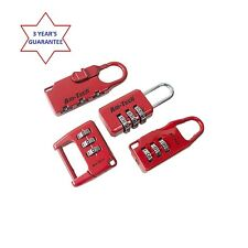 4PC COMBINATION PADLOCK LOCK SET TRAVEL SUITCASE LUGGAGE BAG PADLOCK BIKE SAFETY