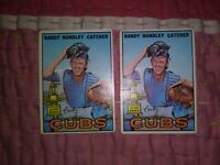 1967 Topps #106 Randy Hundley RC ROOKIE CARD LOT OF 2 CHICAGO CUBS VG CREASED