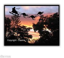 © ART - Ltd.Ed. Australian Christmas Santa Kangaroo B  ACEO collector card by Di