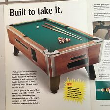 VALLEY COUGAR ZD-6 POOLTABLE PROMO BROCHURE BIFOLD 4 PAGES IN PLASTIC COVER