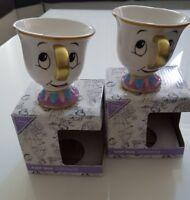 2 x Tassilo Tassen Chip Mug Disney Die Schöne Und Das Biest NEU