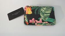 ZARA Green Floral Print Wrist  Bag