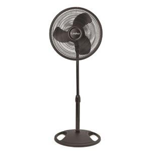 Lasko 16 in. Oscillating Pedestal Stand Fan in Black 90-degree oscillation range