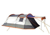 3 Berth Tent Family Camping Weekend & Festivals - Knightwick (Orange & Black)