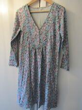 DEERBERG Pretty Organic Cotton Blue/Grey Floral Tunic Top Dress Size M