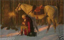 Oil Painting Great George Washington Praying Before Crossing The Delaware 36