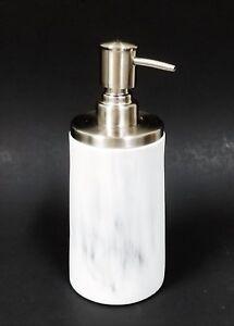 NEW WHITE+GRAY MARBLE LOOKS ACRYLIC,RESIN KITCHEN,BATHROOM SOAP DISPENSER