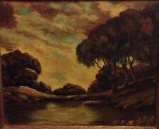 """Vintage Landscape Painting Signed Bertram K Litle """"Late Afternoon"""" Framed"""