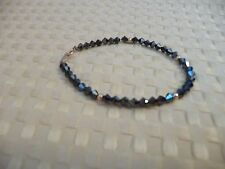 14k gold  and ONYX bead  bracelet - Stunning