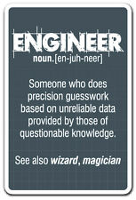 ENGINEER GUESS WORK Novelty Sign work engineering student job funny gift