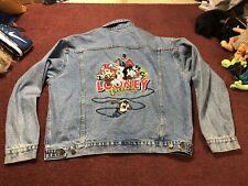 Warner Brothers 1997 VTG Gran Father Jacket Embroidered Denim - Sz XL