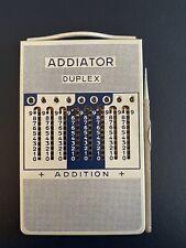 Vintage Addiator Duplex Calculator with Stylus and Case