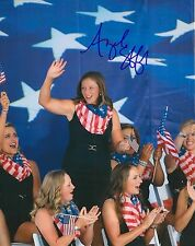 Angela Stanford signed Lpga 8x10 Solheim Cup photo with Coa