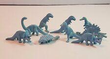 Vtg Prehistoric Dinosaur Animal Playset Cereal Premium Figure Lot Light Blue