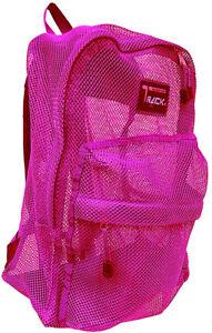 """Track"" See Through Mesh Backpack/Book Bag/Hike/School Backpack - Free Shipping"