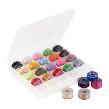 25rolls/box 0.1mm Nylon Thread with Plastic Spools for Sewing Craft Mixed Color