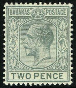 SG 83 BAHAMAS 1919 - 2d GREY - MOUNTED MINT