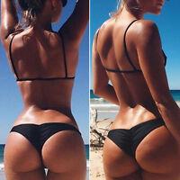 NUOVO da donna Brasiliano Costumi bagno Bikini Tanga provocante spiaggia sexy