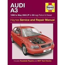 Audi A3 Petrol & Diesel Service and Repair Manual: 1996 to 2003 by Haynes...