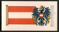 Flag And Standard Banner For Austria c50 Y/O Trade Ad Card