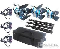 300W + 650W + 1000W Fresnel Tungsten Studio Video Spot Light+ Stands Kit