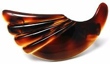 Free Shipping French Hair Barrettes Clip Medium Horn Shaped Tortoise Shell T11