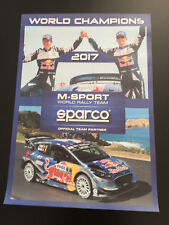POSTER AFFICHE FORD FIESTA WRC OGIER RALLY CHAMPIONS 2017 M-SPORT SPARCO