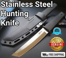 "9"" Stainless Steel Kobun Fixed Blade AUS8A Survival Hunting Tactical Knife Black"