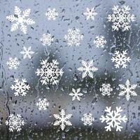 20 Snowflake Window Sticker Decoration REUSABLE Clings Xmas Christmas Home