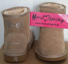 Neues AngebotCRYSTAL BOW CLASSIC MINI LEDER BOOTS NUDE BEIGE STRASS  SCHLEIFE FELL STIEFEL 38 3e449944a1
