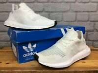 ADIDAS UK 4 EU 36 2/3 WHITE SWIFT RUN ORIGINALS TRAINERS CHILDRENS LADIES LG