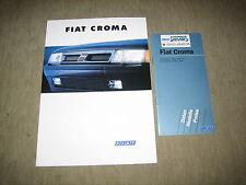 FIAT CROMA opuscolo brochure prospetto di 9/1993, 8 PAGINE + LISTINO PREZZI